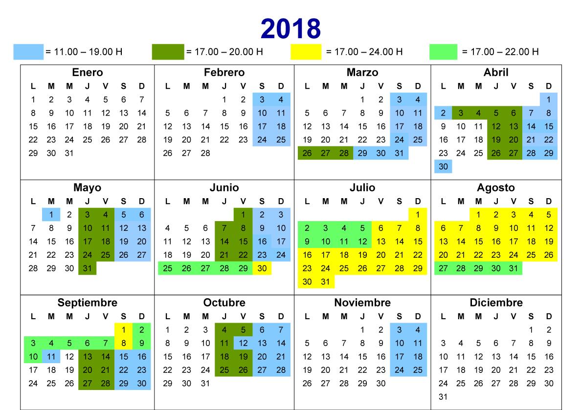 Calendario 2018 Calafell Slide