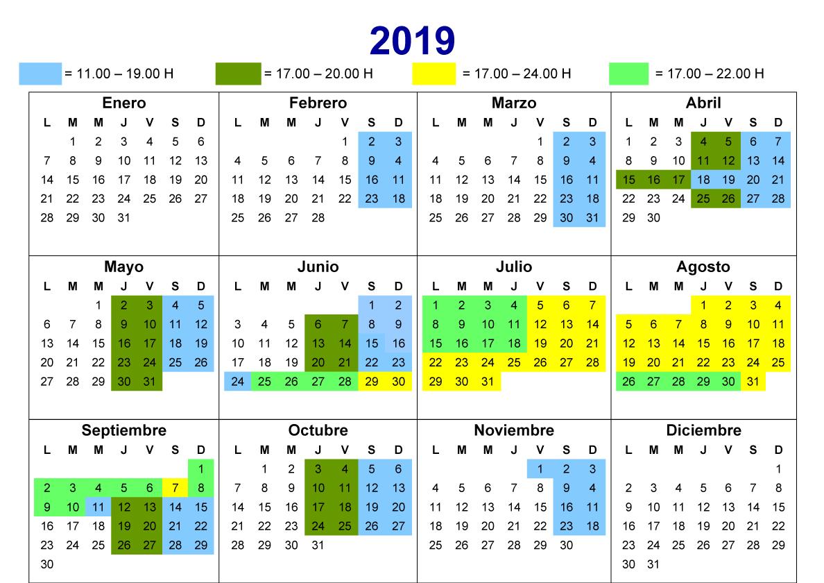 calendario 2019 Calafell Slide